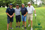smiling group of golfers
