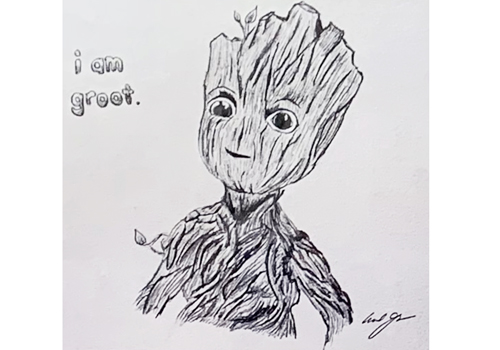 I am groot drawing