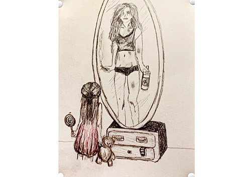 selfmirror drawing