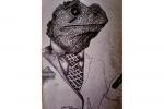 lizardsuit drawing